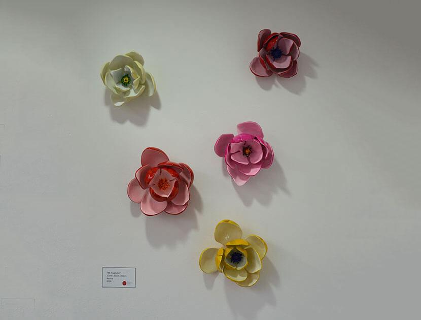 Flores en cerámica Piedad Tarazona