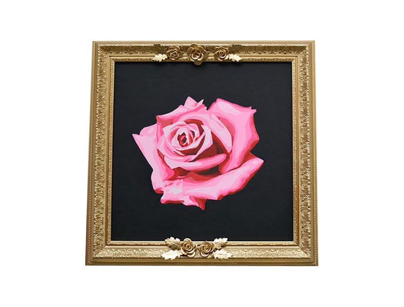 Cuadro de rosas al oleo Piedad Tarazona
